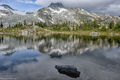 Face Mountain, British Columbia, Canada, Semaphore Lake, reflected