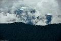 Baker Snoqualmie National Forest, Alpine Lakes Wilderness, Washington, clouds, fog, ridgeline, misty, mountains