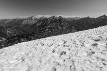 Maple Pass, Okanogan National Forest, Washington, snowfield, north