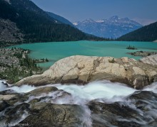 Upper Joffre Lake, Joffre Lakes Provincial Park, British Columbia, Canada, waterfall