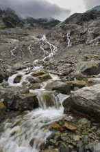 runoff, Matier Glacier, Joffre Lakes Provincial Park, British Columbia, Canada, waterfall