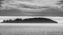 island, fog, Vancouver Island, British Columbia, Canada, coast