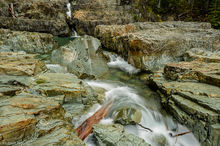 Myra Falls, Strathcona Provincial Park, British Columbia, Canada, Buttle Lake, flowing