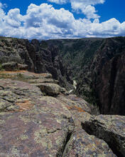 Black Canyon of the Gunnison National Park, Colorado, Gunnison River, north rim