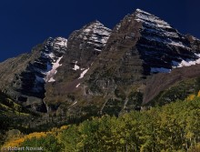 Maroon Bells, Maroon Snowmass Wilderness, Colorado, fall, colors