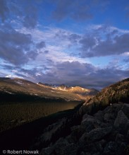 Mummy Range, Rocky Mountain National Park, Colorado, sunrise, Stormy Peaks Pass