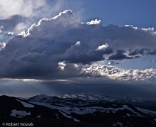 Never Summer Range, Rocky Mountain National Park, Colorado, storm, clouds, sunbeams,