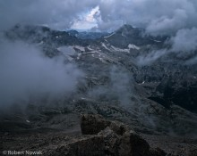 Longs Peak, Rocky Mountain National Park, Colorado, storm, clouds, keyhole, summer