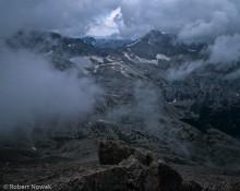 Building Storm Clouds On Longs Peak