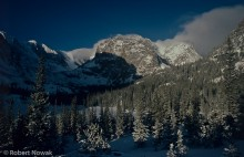 Rocky Mountain National Park, Loch Vale, Colorado, winter, sunrise