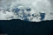 Baker Snoqualmie National Forest, Alpine Lakes Wilderness, Washington, clouds, fog, ridgeline, misty, mountains