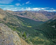 Grasshopper Pass, Okanogan national forest, Washington, trail