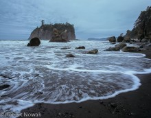 Olympic National Park, Washington, Ruby Beach, waves
