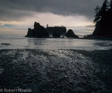 Olympic National Park, Washington, Ruby Beach, storm