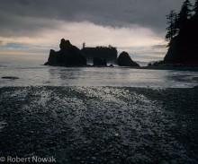 Olympic National Park, Washington, Ruby Beach, storm