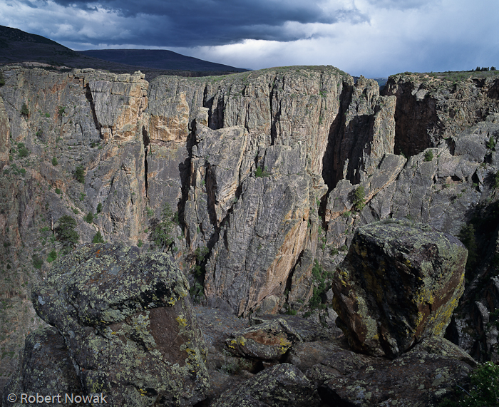 Black Canyon of the Gunnison National Park, Colorado, thunderstorm, north rim