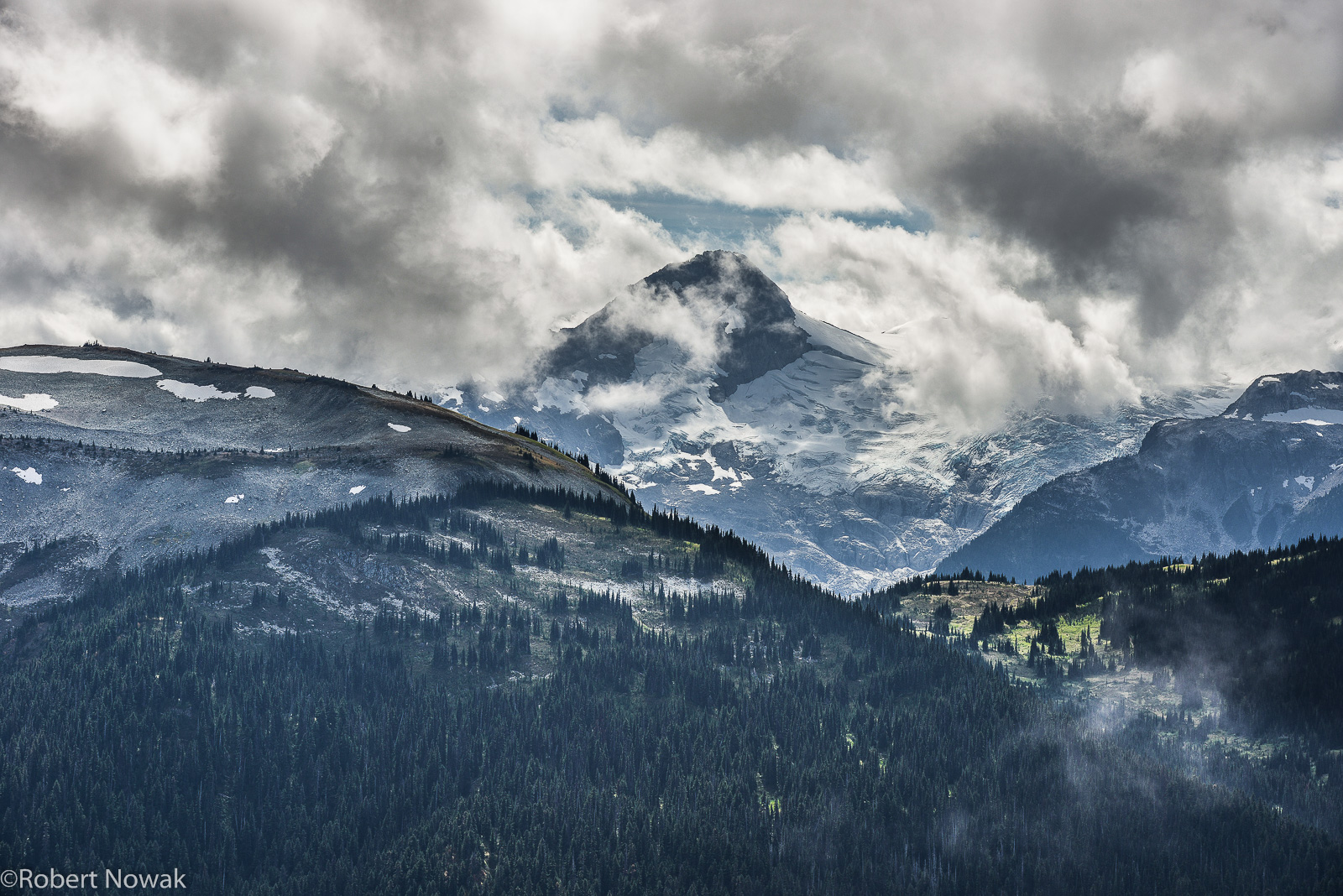 Mt. Davidson, British Columbia, Canada, Blackcomb Peak, Garibaldi Provincial Park, storm, clouds,, photo