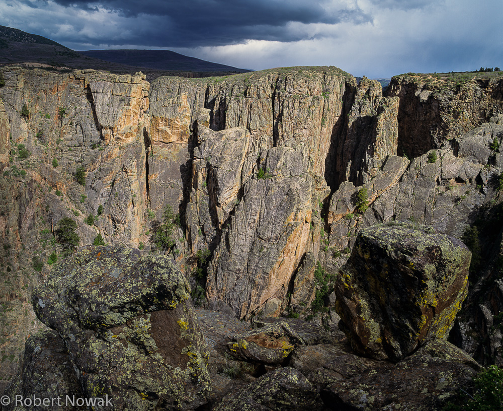 Black Canyon of the Gunnison National Park, Colorado, thunderstorm, north rim, photo