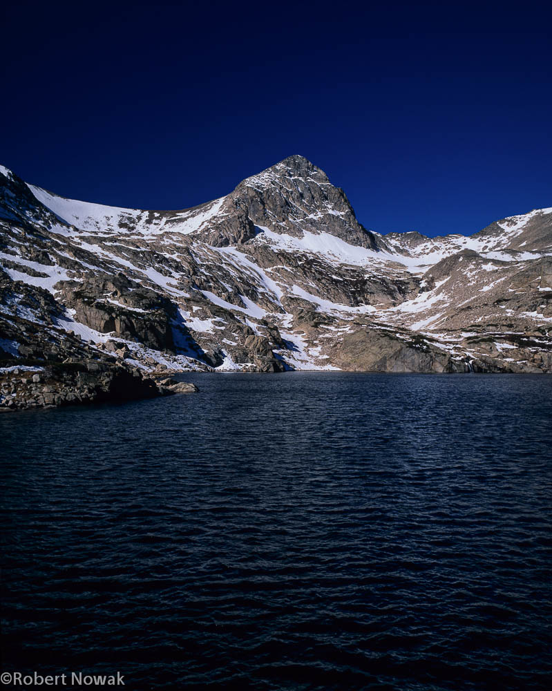 Indian Peaks Wilderness, Colorado, Blue Lake, Mt. Toll, snow, photo