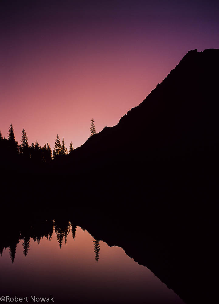 Crater Lake, Maroon Snowmass Wilderness, Colorado, dawn, light, photo