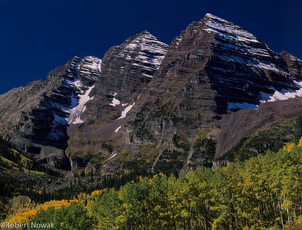 Maroon Bells, Maroon Snowmass Wilderness, Colorado, fall, colors, photo