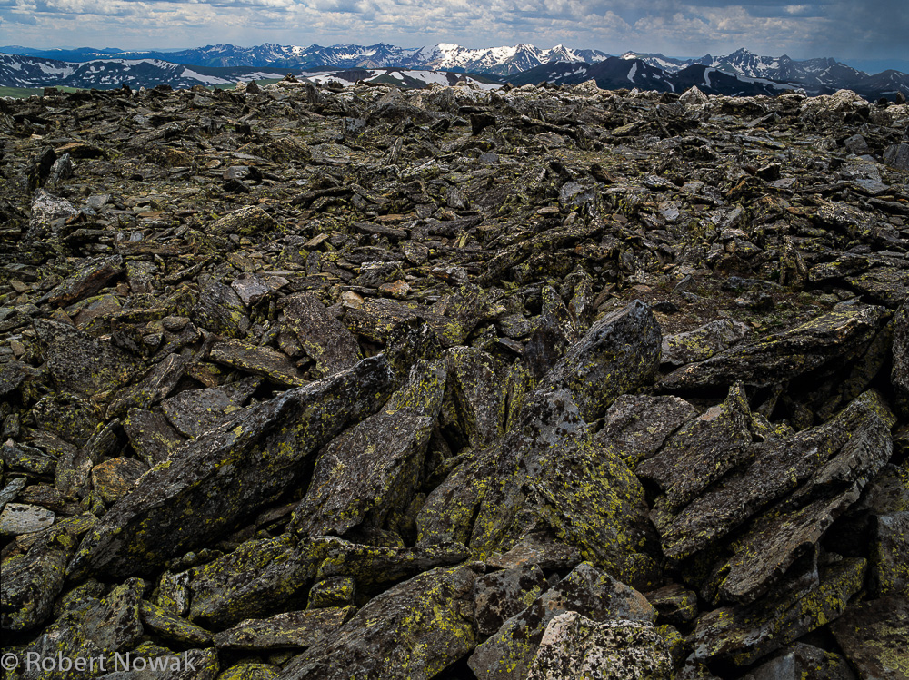 Never Summer Range, Mt. Chapin, Colorado, Rocky Mountain National Park, rocks, lichen, photo