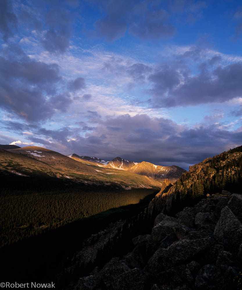 Mummy Range, Rocky Mountain National Park, Colorado, sunrise, Stormy Peaks Pass, photo
