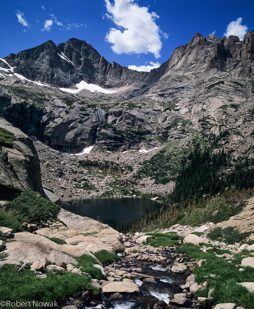 Black Lake, Rocky Mountain National Park, Colorado, McHenrys Peak, Glacier Gorge, photo