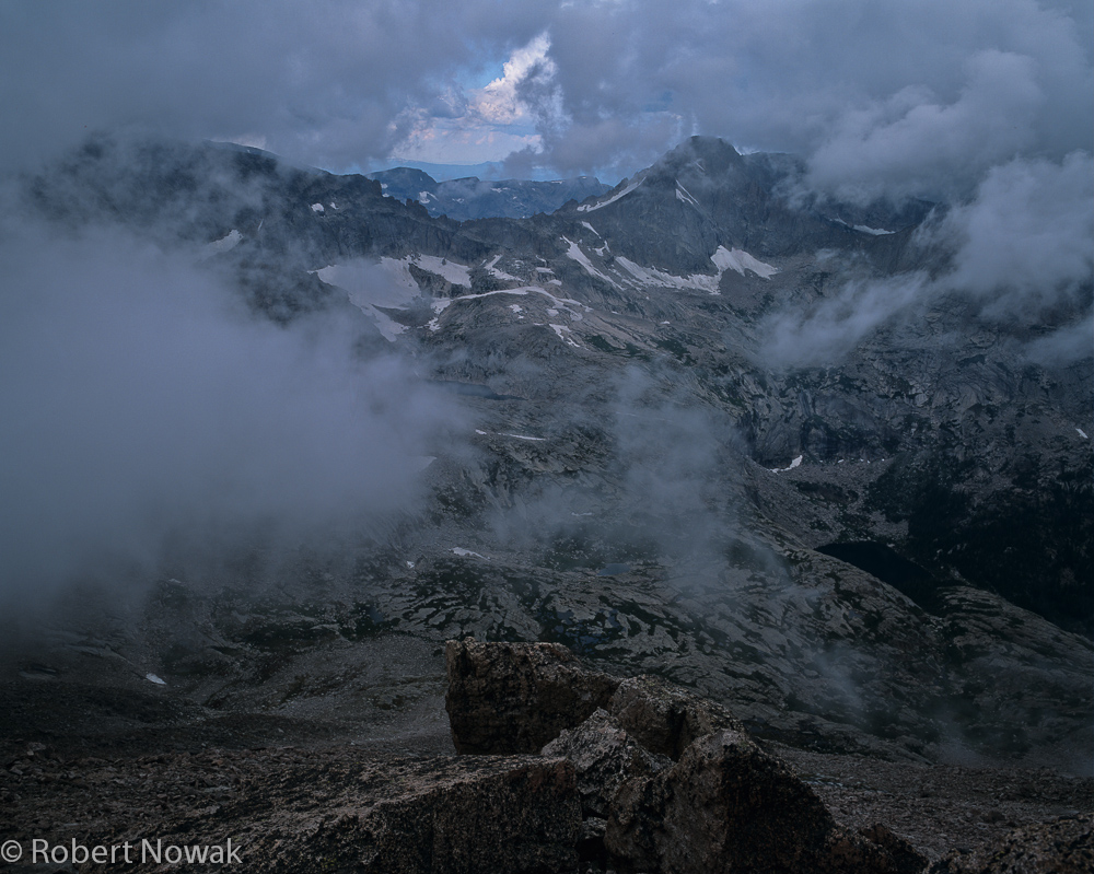 Longs Peak, Rocky Mountain National Park, Colorado, storm, clouds, keyhole, summer, photo