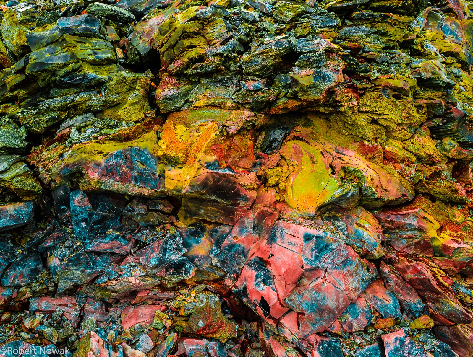 painted, rocks, Newberry National Volcanic Monument, Oregon, coloring, surreal,