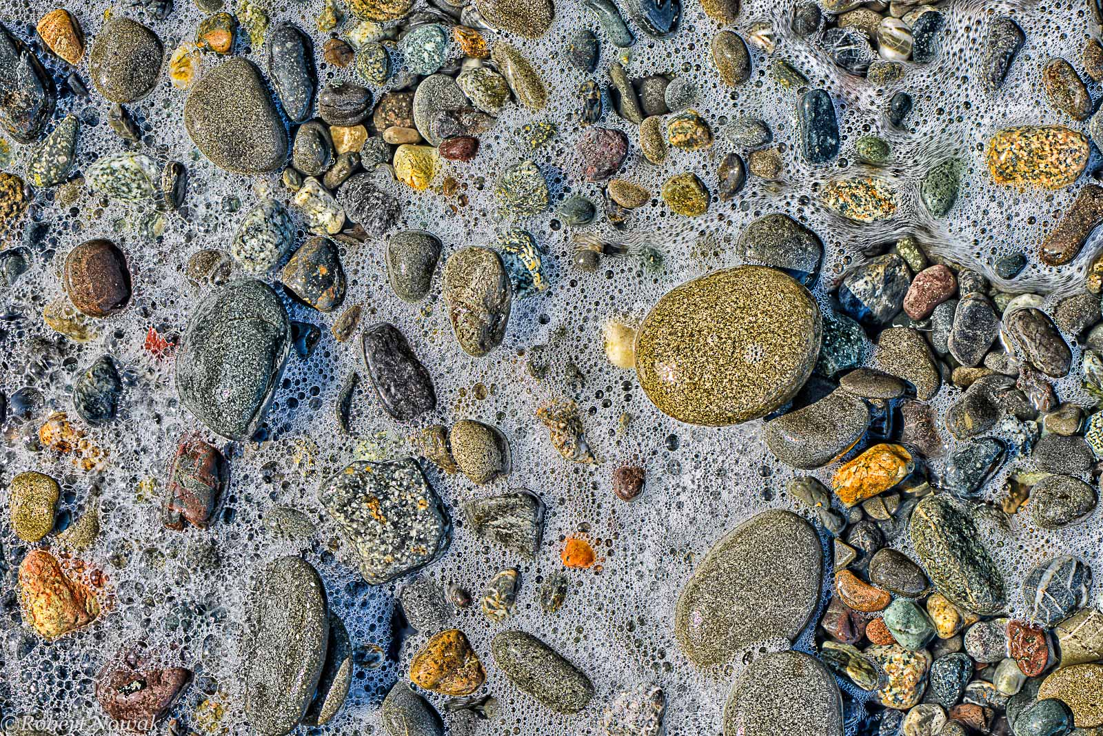 Bubbles, rocks, Dungeness National Wildlife Refuge, Washington, waves, stones, photo