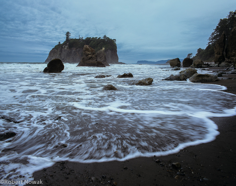 Olympic National Park, Washington, Ruby Beach, waves, photo