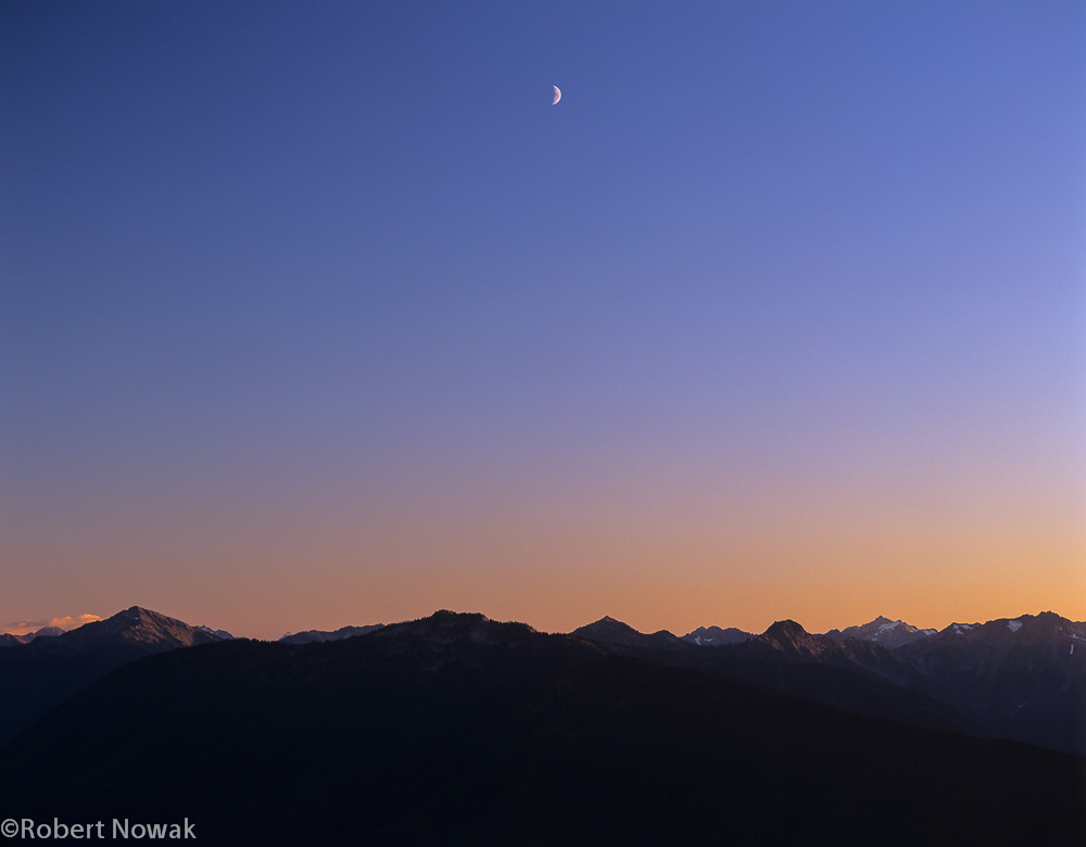 moon, Olympics, olympic national park, Washington, hurricane ridge, photo